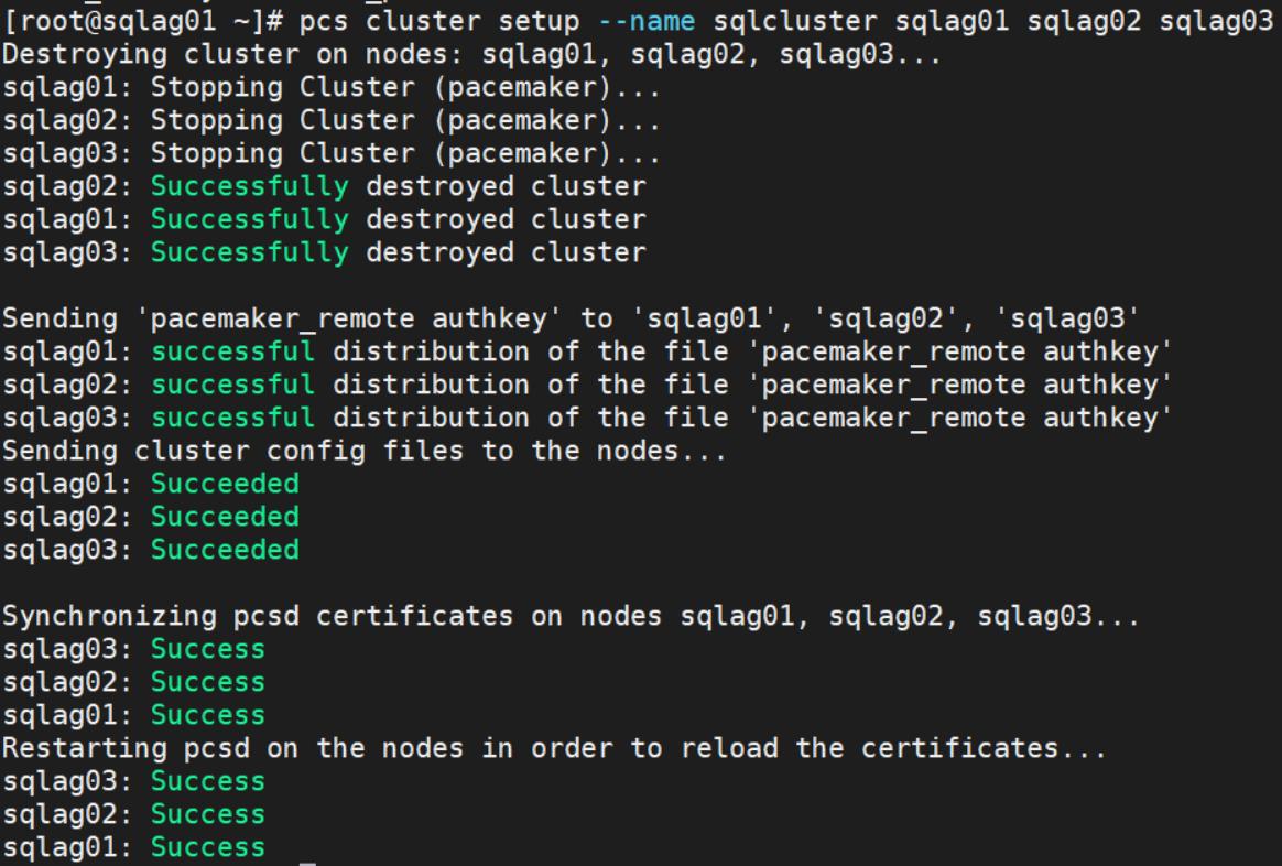 SQL Server 2019 for Linux – 创建Pacemaker群集